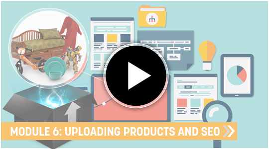 Uploading products and E-commerce products SEO Video training course